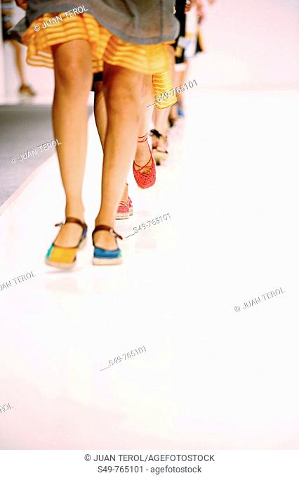 Partial view of the end of a fashion show in Valencia