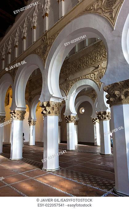 Synagogue of Santa Maria la Blanca, Toledo, Castilla La Mancha, Spain