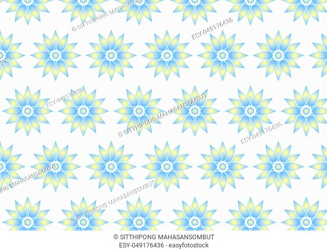 Classic light blue flower pattern on pastel color. Sweet bloom for decoration