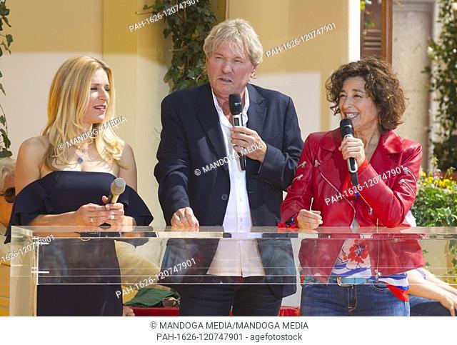 Rust, Germany - May 26, 2019: Immer wieder Sonntags, ARD / SWR Television Show with Singer Stefanie Hertel, Isabel Varell and Bernhard Brink | usage worldwide