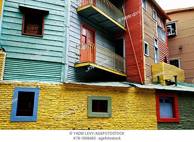 Colorful houses on Caminito area in La boca  Buenos Aires, Argentina