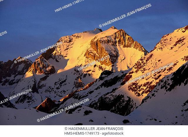 France, Savoie, Pralognan la Vanoise, Grande Casse (3855m)