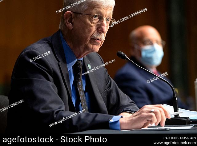Dr. Francis Collins, Director of the National Institutes of Health (NIH) and Dr. Robert Redfield (R), Director of the Centers for Disease Control and Prevention...