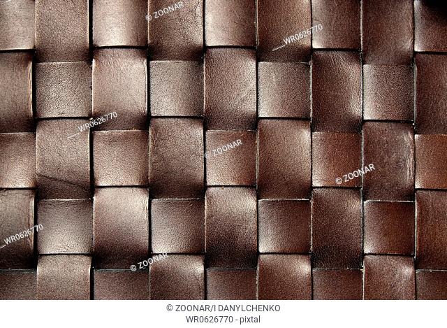 squared dark brown leather texture