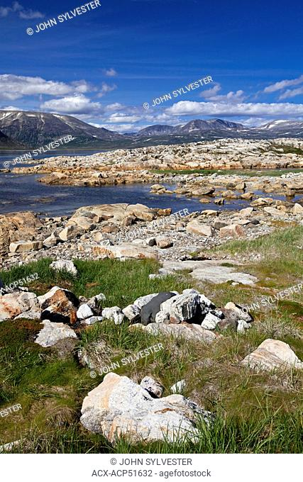 Sallikuluk, Rose Island, in Saglek Bay, Torngat Mountains, northern Labrador, Canada