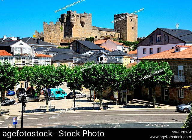 Country house castle of the Condes de Lemos, Castro Caldelas, Orense, Spain