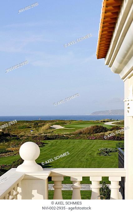 View from balcony, Praia d'el Rey Marriott Golf and Beach Resort, Atlantic coast, Province of Obidos, Portugal, Europe