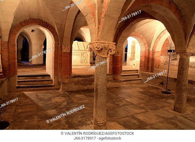 Crypt of the cathedral of Santa María Assunta. Ivrea. Italy