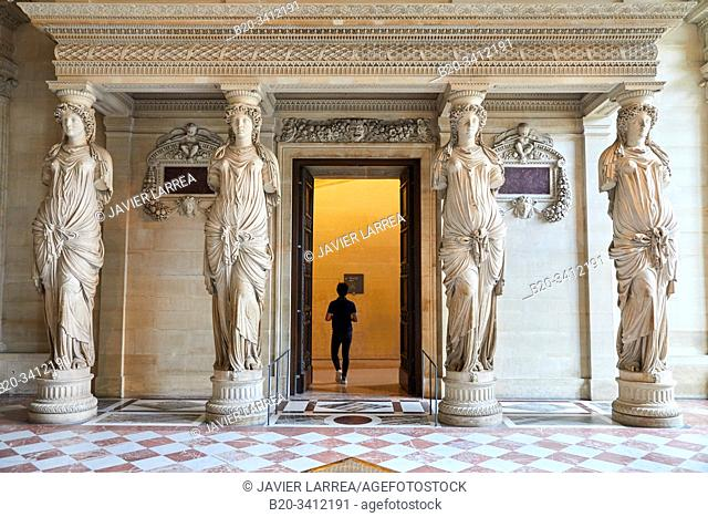 """""""""""""""Salle des Caryatides"""""""", Musée du Louvre, Paris, France, Europe"""