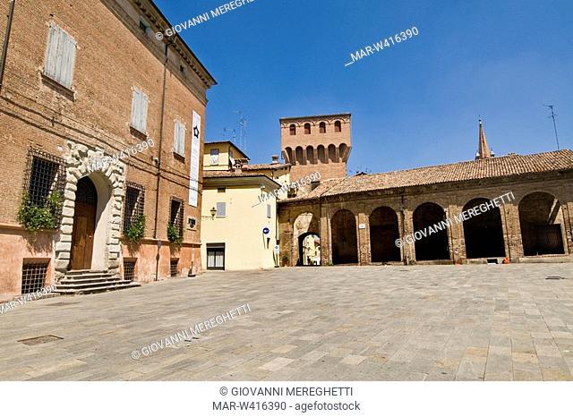 historical centre, vignola, emilia romagna, italy