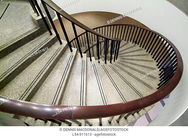 Spiral stair case inside the State Capitol Building at Tallahassee Florida FL