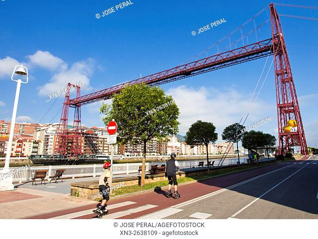 Skaters, The Vizcaya Bridge, commonly call it the Puente Colgante, is a transporter bridge that links the towns of Portugalete and Las Arenas (part of Getxo)