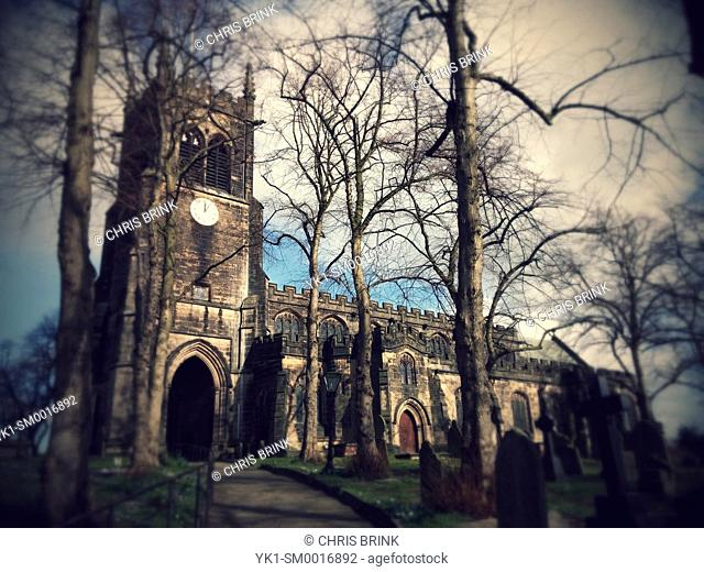 Village church in Sandbach Cheshire UK