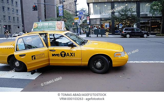 Yellow Taxi Cab, New York City, 2nd Avenue, near Grand Central Terminal