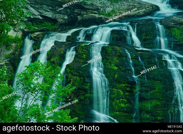 Cullasaja Falls in the Nantahala National Forest in North Carolina