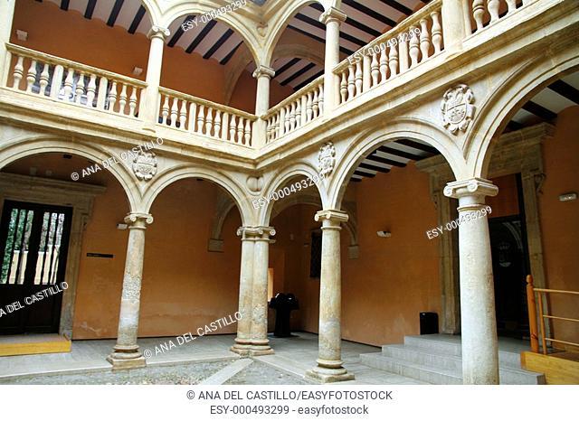 Almansa town hall courtyard, Castilla la Mancha, Albacete province, Spain