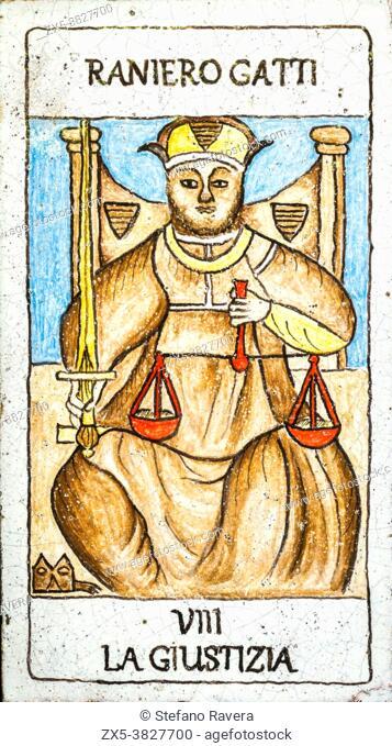 Justice, Medieval tarot cards