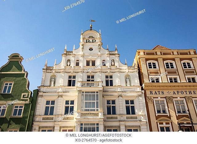 Das Haus in Neuer Markt, New Market Square, Rostock, Mecklenburg-Vorpommern, Germany
