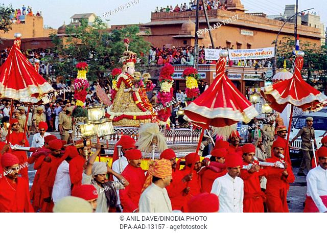 Gangaur & Gudi at Procession, Jaipur, Rajasthan, India