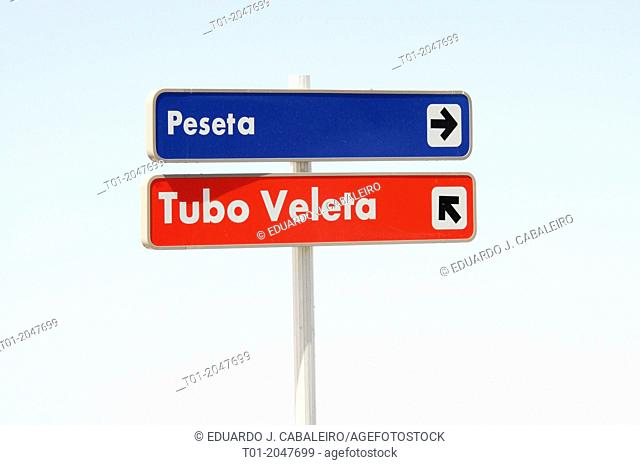 Signs, Sierra Nevada. Granada, Andalusia, Spain
