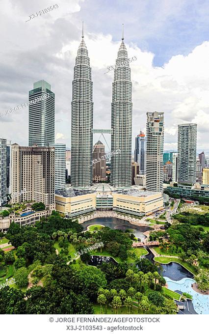 Petronas towers, Kuala Lumpur, Malaysia, Asia