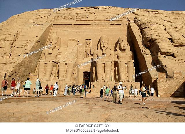 The Temple of Ramesses II - The four statues of Ramesses II at the temple's gate