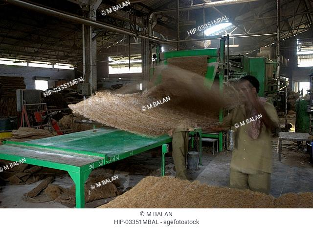 COIR PROCESSING IN FACTORY IN ALAPPUZHA DISTRICT