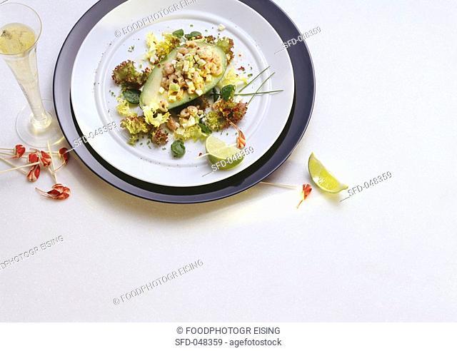 Avocado Cocktail with Shrimp