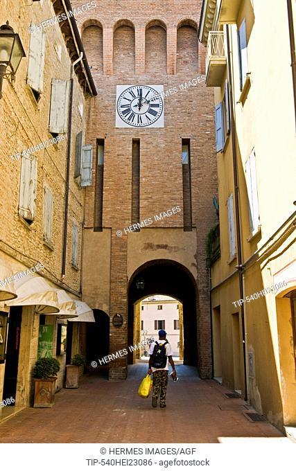 Clock tower, Vignola, Emilia Romagna, Italy