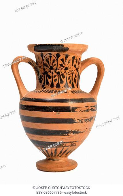 Original Greek vase from archaeological excavation