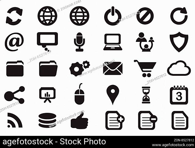 Internet icon set. Vector Illustration, Eps 10