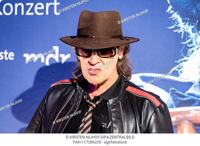 "Rock musician Udo Lindenberg on the verge of a preview of two new MDR productions  € œUdo Lindenberg A """"Full speed ahead! Encounters on the Lindian Ocean € œ..."