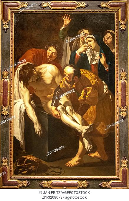 The entombment of Christ from Dirck van Baburen