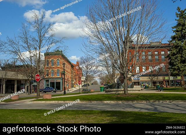 The city square in the city of Northfield in Minnesota, USA