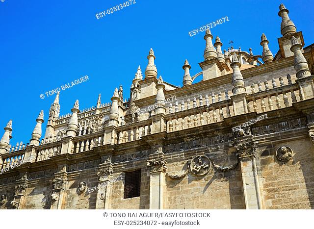 Seville cathedral of Sevilla Andalusia Spain
