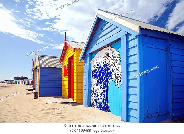 Brighton Beach Colourful Huts