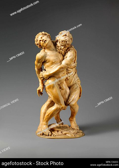 Hercules and Achelous. Artist: Attributed to the Master of the Martyrdom of St. Sebastian (Austrian); Date: probably mid-17th century; Culture: probably...