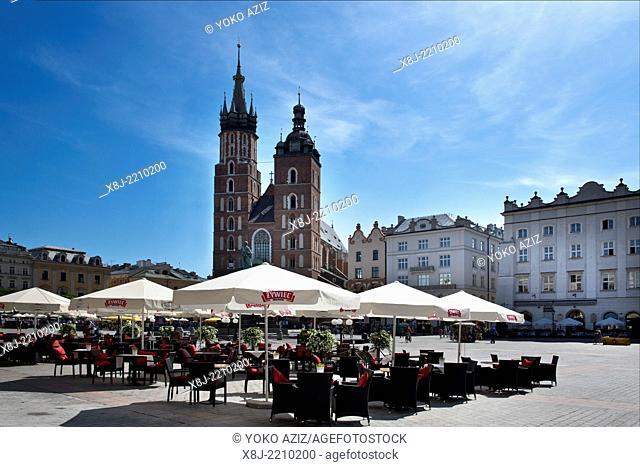 Poland, Krakow, Main Market square, Rynek Glowny,