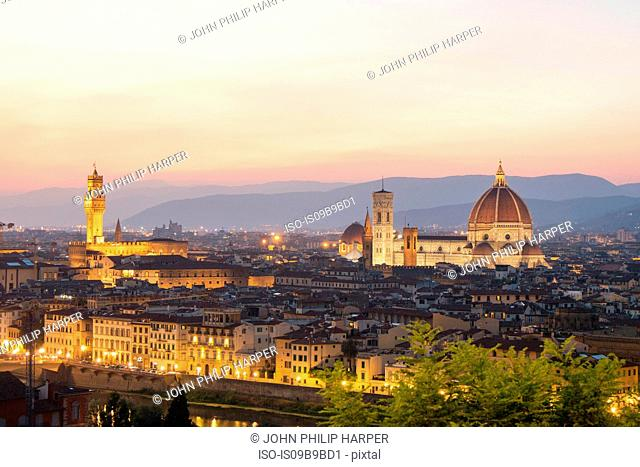 Skyline at sunset, Florence, Italy