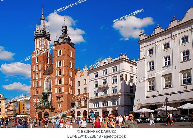 Saint Mary's Church. Cracow, Lesser Poland Voivodeship, Poland
