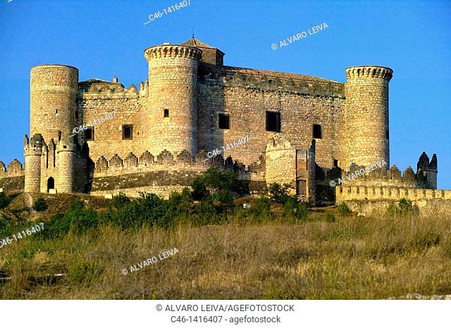 Belmonte castle 15th century  Cuenca province, the route of Don Quixote, Spain