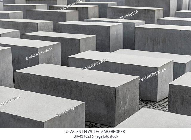 Holocaust Memorial, Memorial to the Murdered Jews of Europe, steles made of concrete, Berlin, Germany