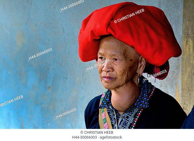 Asia, Asien, Southeast Asia, Vietnam, Northern, Hoàng Liên Son Mountains, Sa Pa, Sapa, Hmong Woman portrait