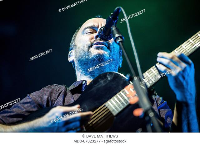 American singer and musician Dave Matthews performs live on stage at Mediolanum forum with Dave Matthews Band. Milan (Italy), April 3rd, 2019