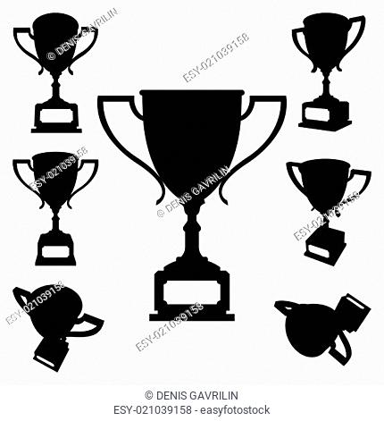 Sport cups silhouettes