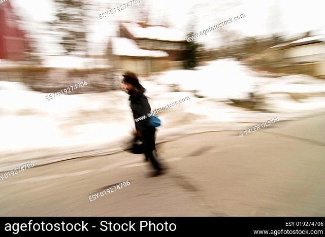 Running in Motion Blur