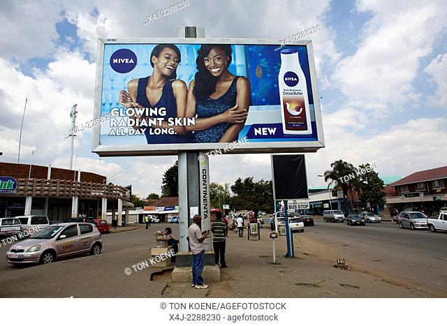 billboard in Zimbabwe