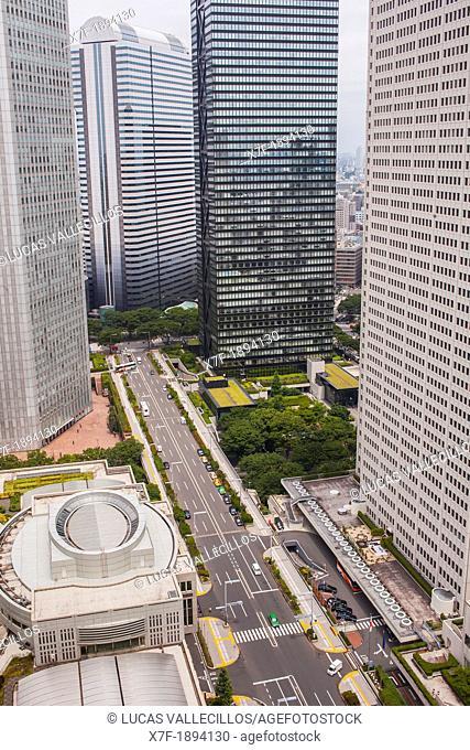 Shinjuku  Skyscrapers in Nishi Shinjuku Tokyo city, Japan, Asia