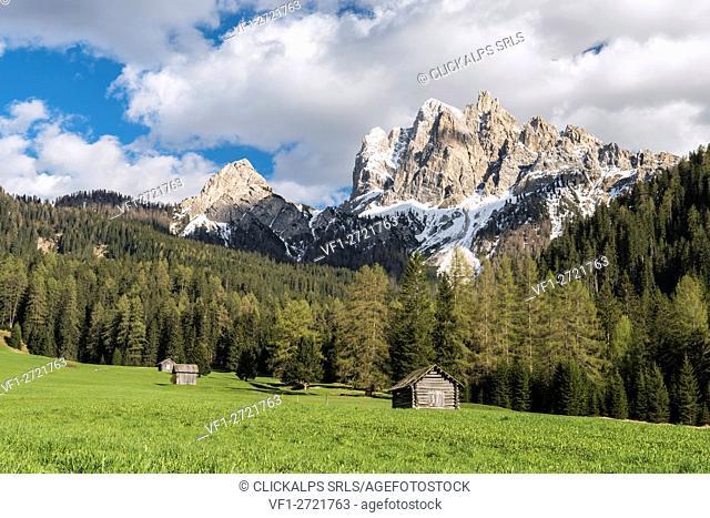Braies / Prags, Dolomites, South Tyrol, Italy. The Picco di Vallandro / Dürrenstein