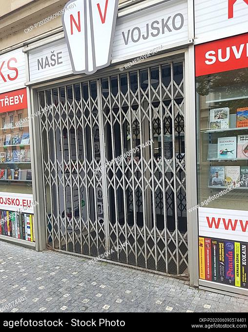 The police anti-extremism and anti-terror unit intervened today, on Tuesday, June 9, 2020, in the Prague shop run by the Nase vojsko publisher